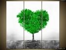 Drzewko miłości, Obraz na płótnie, Canvas, TRYPTYK, sklep - 2