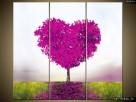 Drzewko miłości, Obraz na płótnie, Canvas, TRYPTYK, sklep - 3