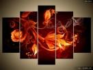 Płomienne kwiaty, OBRAZY, Canvas, Obraz na płótnie, sklep - 4