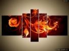 Płomienne kwiaty, OBRAZY, Canvas, Obraz na płótnie, sklep - 7