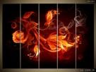 Płomienne kwiaty, OBRAZY, Canvas, Obraz na płótnie, sklep - 5