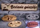 Szyld Reklama Baner Tablica w drewnie wypalanie na drewnie l - 4