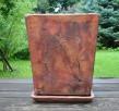 Sprzedam ceramiczną donicę + spodek. 40 x 31 cm. - 1