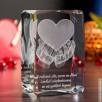 Serce na dłoniach 3D jako miłosny prezent na rocznicę ślubu - 2
