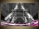 Kolorowo pod wieżą, Tryptyk, Obrazy, Obraz na płótnie - 8