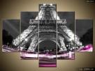 Kolorowo pod wieżą, Tryptyk, Obrazy, Obraz na płótnie - 2