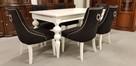 Krzesło krzesła pikowane tapicerowane z kołatką chesterfield - 2