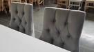 Krzesło krzesła pikowane tapicerowane z kołatką chesterfield - 5