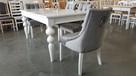 Krzesło krzesła pikowane tapicerowane z kołatką chesterfield - 7