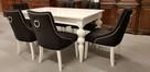Krzesło krzesła pikowane tapicerowane z kołatką chesterfield - 3