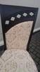 Krzesło tapicerowane stylowe modne do salonu producent - 4