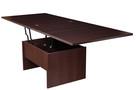Ława stół ławostół rozkładany podnoszony BIAŁY sonoma wenge - 4