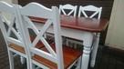 Krzesło krzyżak prowansalskie białe skandynawskie modne