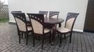 Krzesło tapicerowane stylowe modne do salonu producent - 3