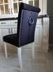 Krzesło nowe tapicerowane pikowane z ćwiekami i z kołatką - 8
