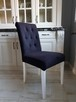 Krzesło nowe tapicerowane pikowane z ćwiekami i z  kołatką - 5