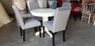 Krzesło nowoczesne tapicerowane do salonu jadalni restauracj - 4