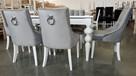 Wygodne nowoczesne krzesło tapicerowane z kołatką nowe - 7