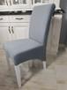 Krzesło nowoczesne tapicerowane Glamour z kołatką pinezkami - 5