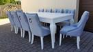 Krzesło z KRYSZTAŁKAMI pikowane kołatka pinezki GLAMOUR - 7