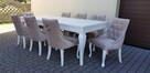 Krzesło glamour pikowane z kołatką pinezkami z kryształkami - 7