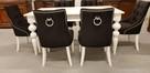 Krzesło glamour pikowane z kołatką pinezkami z kryształkami - 6