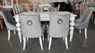 Krzesło glamour pikowane z  kołatką pinezkami z kryształkami - 8