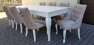Krzesło z KRYSZTAŁKAMI pikowane kołatka pinezki GLAMOUR - 6