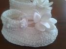 szydełkowe buciki na niemowlę z włóczki bawełnianej