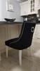 Krzesło pikowane z kołatką z pinezkami tapicerowane modne - 7