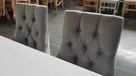 Krzesło pikowane z kołatką z pinezkami tapicerowane modne - 4