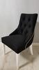 Krzesło pikowane z kołatką z pinezkami tapicerowane modne - 6