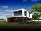 Projekt PS-GL-70-20-2G-V1 dom jednorodzinny NOWOCZESNY EKO - 2