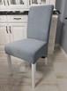 Krzesło tapicerowane nowoczesne z kołatką z ćwiekami nowe - 7