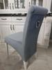 Krzesło tapicerowane nowoczesne z kołatką z ćwiekami nowe - 5
