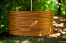Drewniana lampa wisząca Abażur Orzech Amerykański Sufitowa