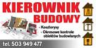 Kierownik budowy nadzory budowlane kosztorysy Kraków
