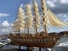 Drewniana Replika statku żaglowca France II