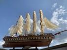 Drewniana Replika statku żaglowca France II - 4