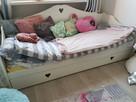 Łóżko biale do pokoju dziecięcego