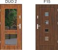 Polskie drzwi stalowe wejściowe 72 mm LUX DUO1/F10