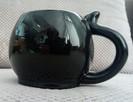czarny kotek kubek unikat 420ml black cat skull - 3