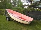 żaglówka bez osprzętu, łódka