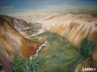 Obraz olejny ,,Pejzaż afrykański,,. Częstochowa