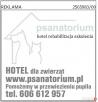 Hotel dla psa PSANATORIUM Pomożemy w przywiezieniu. - 2