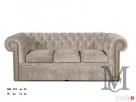 Sofa Chesterfield 3-osobowa - plusz - kanapa różne kolory - 1