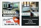Blaty kuchenne, łazienkowe, granit marmur parapety schody, - 1