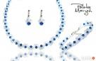 Komplet Ślubny Swarovski Crystal błękit - 3