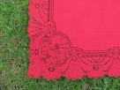 Bordowy bieżnik - serweta 92cm x 92 cm - 1