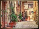 OBRAZY, Stara alejka w Toskanii, Canvas, Obrazy na płótnie